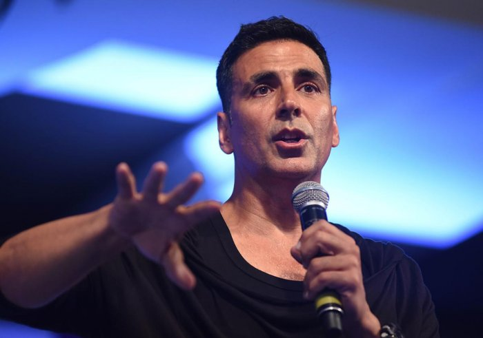 Indian Bollywood actor Akshay Kumar. AFP photo