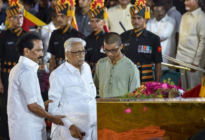 His remarks come at a time when Alagiri, expelled by DMK patriarch and their father M Karunanidhi in 2014 at the height of his fight with Stalin over establishing supremacy in Tamil Nadu's main opposition party, has raised a banner of revolt. PTI Photo