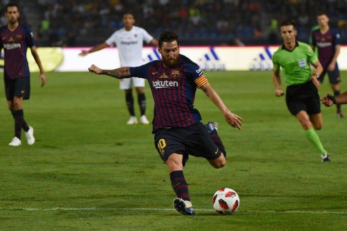 Barcelona's Argentinian forward Lionel Messi. (AFP file photo)