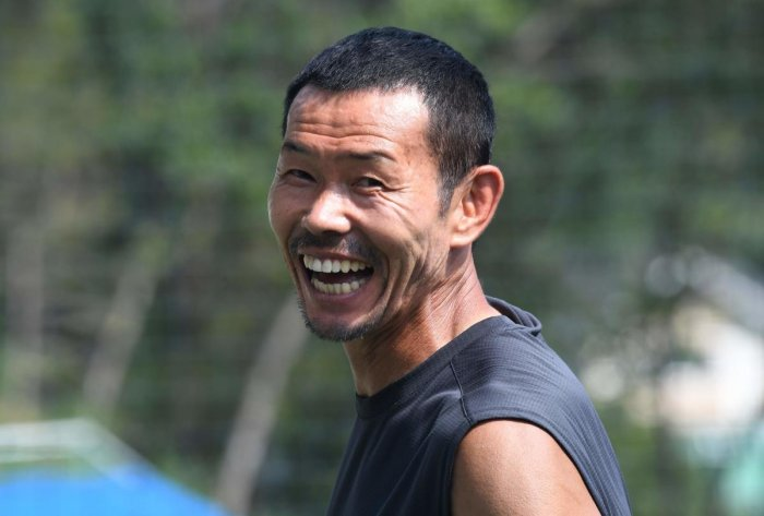 Son Woong-jung, father of South Korean football star Son Heung-min, smiling at his football academy in Chuncheon, Seoul. AFP