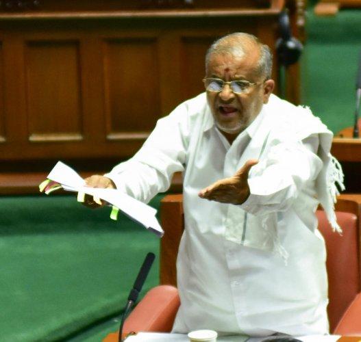 Higher Education Minister G T Deve Gowda