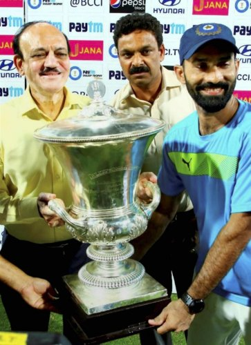 Captain Dinesh Karthik had led India Red to title triumph in the last edition of the Duleep Trophy in Lucknow. PTI File Photo