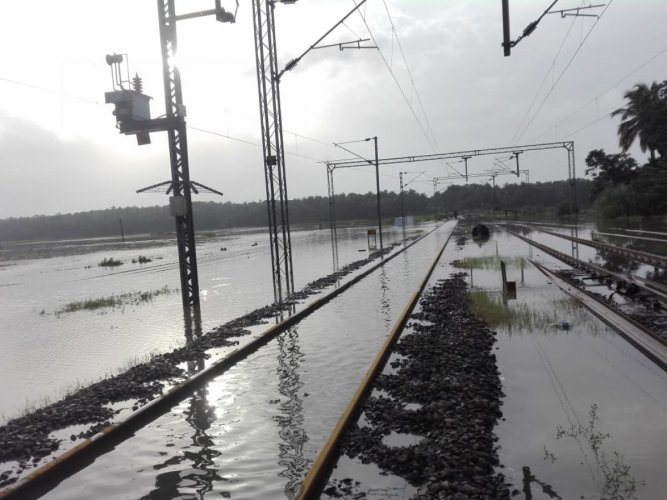 The rail track between Kuttipuram and Pallipuram is not operational (in Kozhikode - Shoranur section). Photo credit: Palakkad Railway Division.