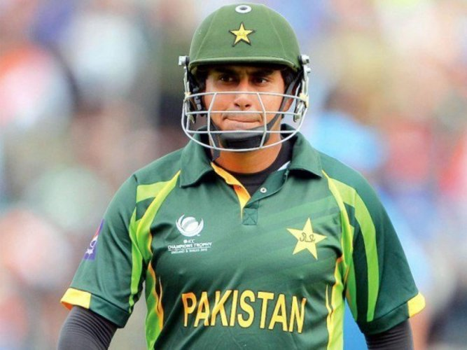 Pakistan opener Nasir Jamshed once slammed three consecutive centuries against India in 2012. Reuters File Photo.
