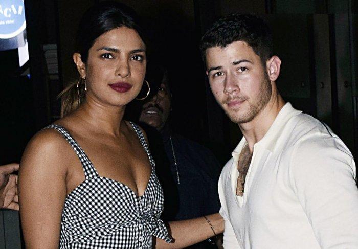 Priyanka Chopra and Nick Jonas seen together in Mumbai. (AFP File Photo)