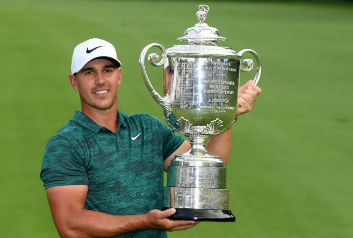 STACKING UP WINS Brooks Koepka of the USA won the PGA Championship in St Louis last Sunday for his third major. AFP