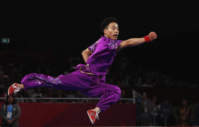 SUNSHINE: Sun Peiyuan of China in action in the men's changquan at Jakarta on Sunday. Reuters