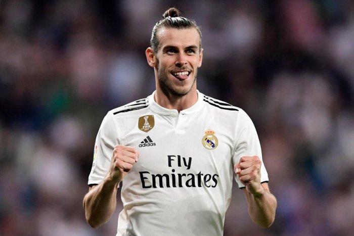 FINE SHOW: Real Madrid's forward Gareth Bale celebrates after scoring a goal against Getafe during their La Liga tie on Sunday. AFP