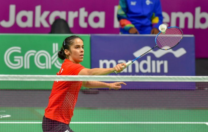 India's Saina Nehwal fought hard but couldn't overcome Japan's Nozomi Okuhara in the team event on Monday. AFP