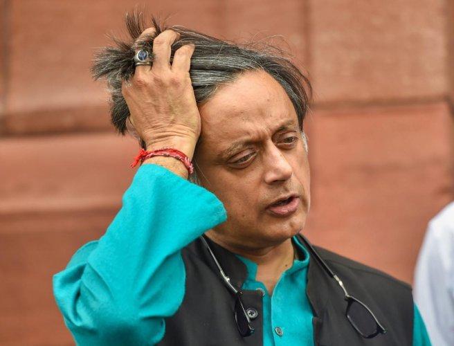 Congress MP Shashi Tharoor. PTI file photo