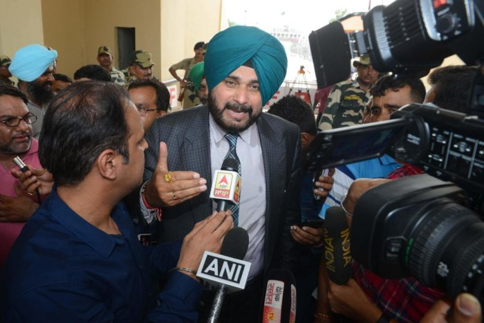 Indian cricketer-turned-politician and Punjab cabinet minister Navjot Singh Sidhu. AFP photo