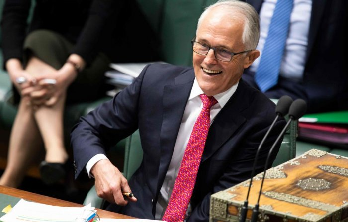 Australian Prime Minister Malcolm Turnbull speaks at the Parliament in Canberra on August 21, 2018. AFP