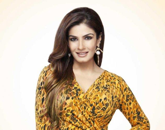 TV reality show presenter and celebrity Raveena Tandon. File photo