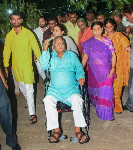The agency said Lalu Prasad and IRCTC officials allegedly misused their position for granting sub-lease of the rights of two railway hotels at Puri and Ranchi to Ms Sujata Hotel Pvt. Ltd. owned by Kochhars. PTI File Photo