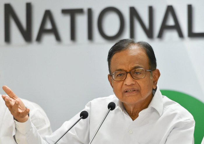 New Delhi: Senior Congress leader P Chidambaram speaks during a party briefing, at AICC HQ, in New Delhi on Monday, June 11, 2018. (PTI Photo/Shahbaz Khan) (PTI6_11_2018_000043A)