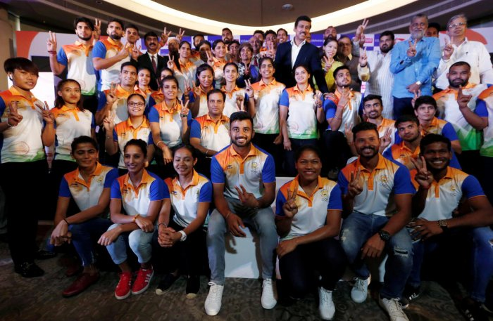 Members of the Indian contingent, participating in the 2018 Asian Games, pose for a picture during a send-off ceremony in New Delhi, India August 10, 2018. (Reuters File Photo)