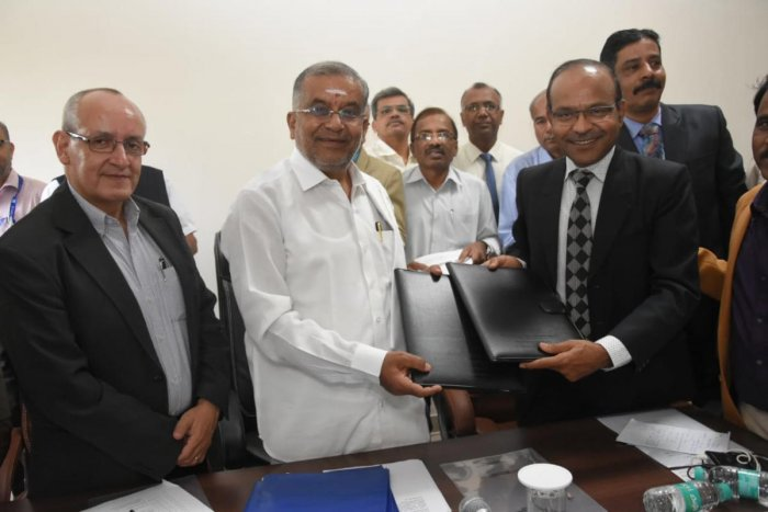 An MoU was signed between engineering colleges and the World Bank in the presence of higher education minister G T Deve Gowda. DH PHOTO