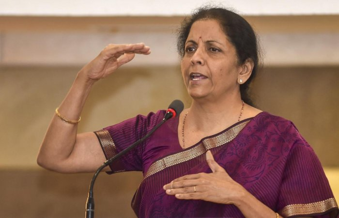 Chennai: Defence Minister Nirmala Sitharaman addresses during the 10th anniversary of the centre for China studies, in Chennai on Friday, June 08, 2018. PTI