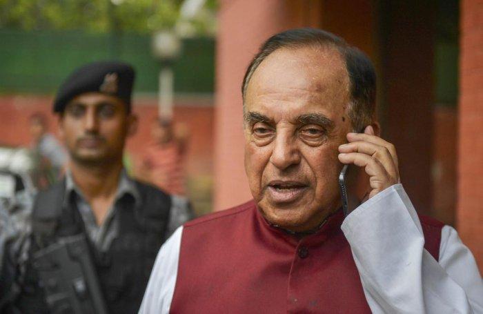 BJP MP Subramanian Swamy. PTI file photo