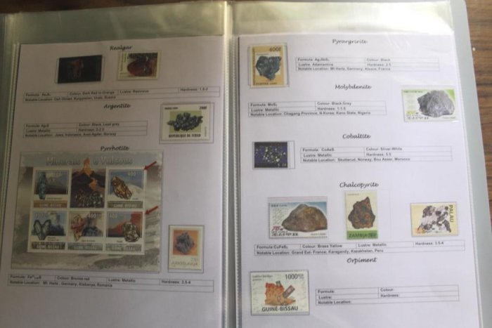 Adesh Barde's collection of theme-based stamps.