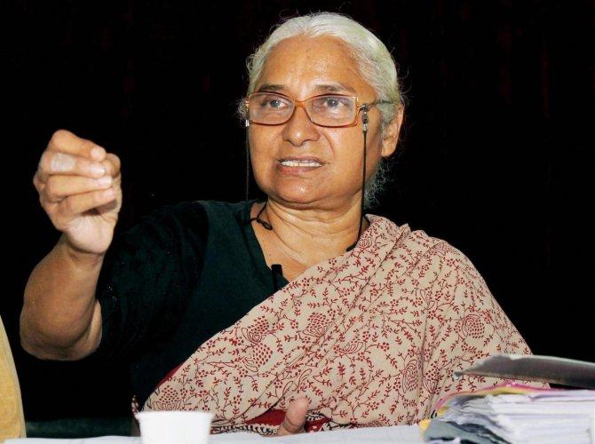 Activist Medha Patkar. DH File Photo