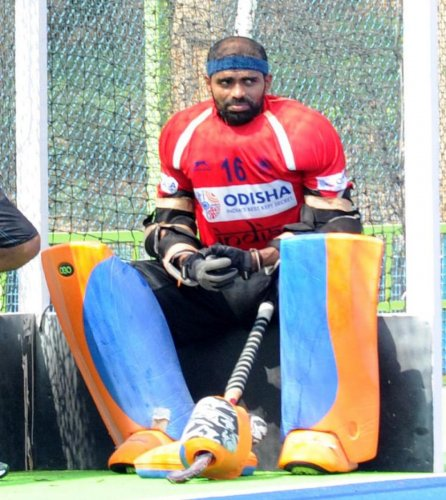 Indian hockey skipper P R Sreejesh lost his cool on more than one occasion in their tie against South Korea. DH File Photo