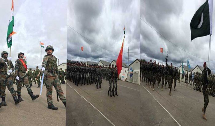 China on Monday welcomed the participation of militaries of India and Pakistan for the first time in a mega anti-terror drill of the SCO and hoped that the two countries could enhance dialogue and cooperation both bilaterally and within multilateral mechanisms to maintain regional peace and stability. Picture courtesy Twitter