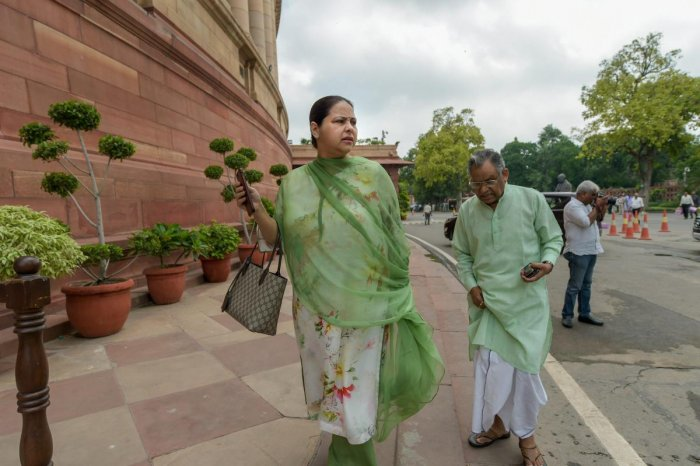 Bharti, who is a Rajya Sabha MP, and her husband Shailesh Kumar were granted bail on March 5 after they appeared before the court in pursuance to summons issued against them. PTI File Photo