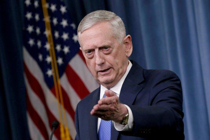 U.S. Defense Secretary James Mattis. Reuters file photo
