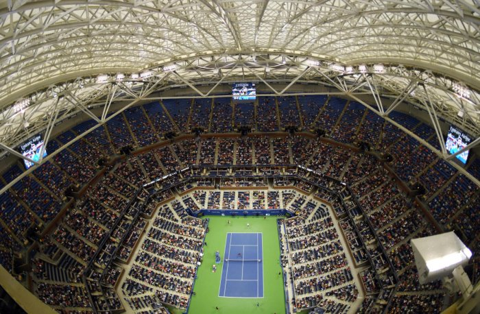 A view of the closed roof above Arthur Ashe Stadium at the USTA Billie Jean King National Tennis Center. USA Today file photo