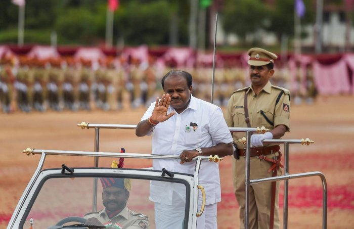 As the JD(S)-Congress coalition ministry in Karnataka completed 100 days in office, BJP today lashed out at the H D Kumaraswamy government alleging that development had gone for a toss and the chief minister was worried whether his government would surviv