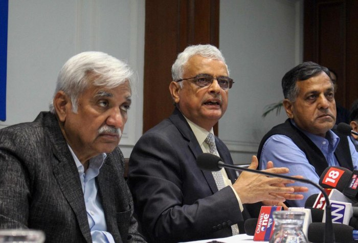 Chief Election Commissioner OP Rawat along with Election Commissioners Sunil Arora (L) and Ashok Lavasa (R). PTI file photo
