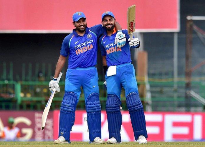 India captain Virat Kohli and Rohit Sharma. (PTI File Photo)