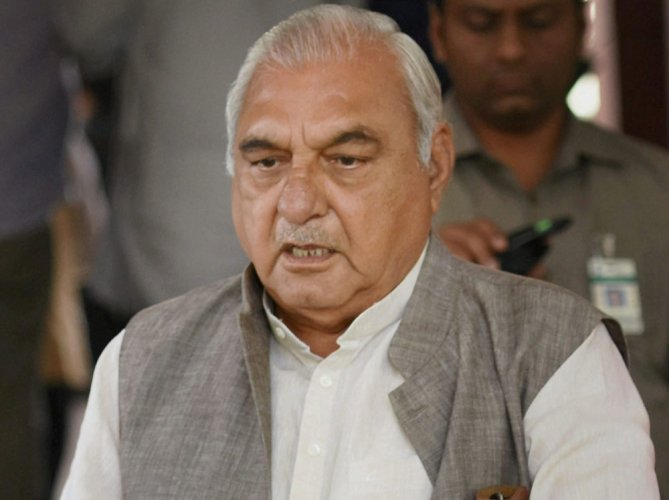 Former chief minister Bhupinder Singh Hooda too has embarked on a 'Jan Kranti Yatra' to assert his leadership in the state. (PTI File Photo)