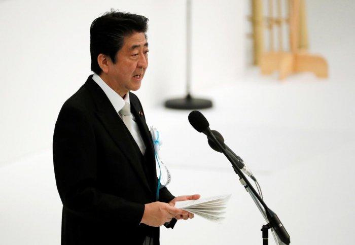 Japanese Prime Minister Shinzo Abe. (Reuters Photo)