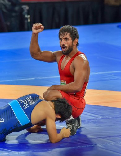 IMPRESSIVE: Bajrang Punia has it in him to carry forward a great legacy set by his mentor Yogeshwar Dutt. PTI