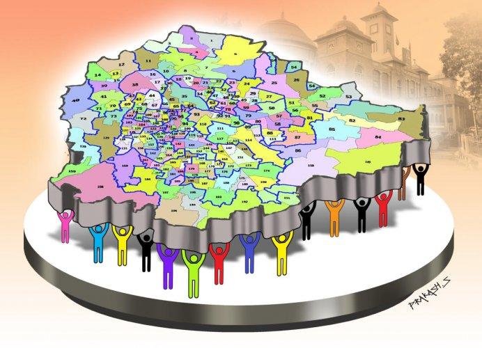 bbmp ward map illustration