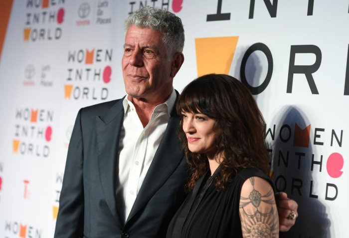 Asia Argento, who was dating host Chef Anthony Bourdain at the time of his death by suicide in June, appeared on a number of episodes of the travelogue series. AFP File Photo