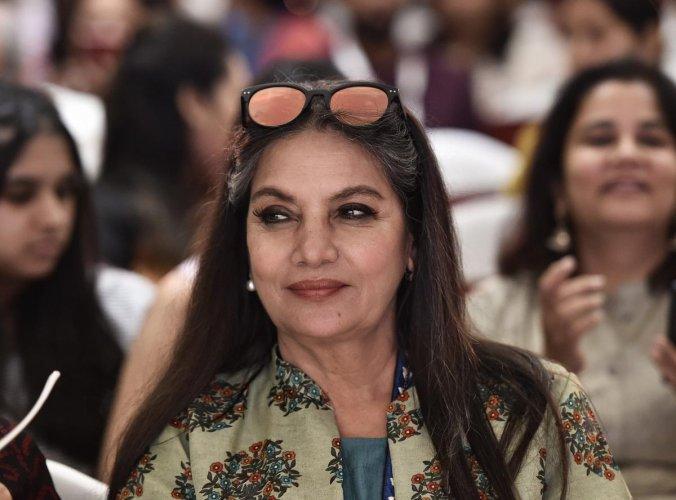 Bollywood actress and activist Shabana Azmi. PTI Photo