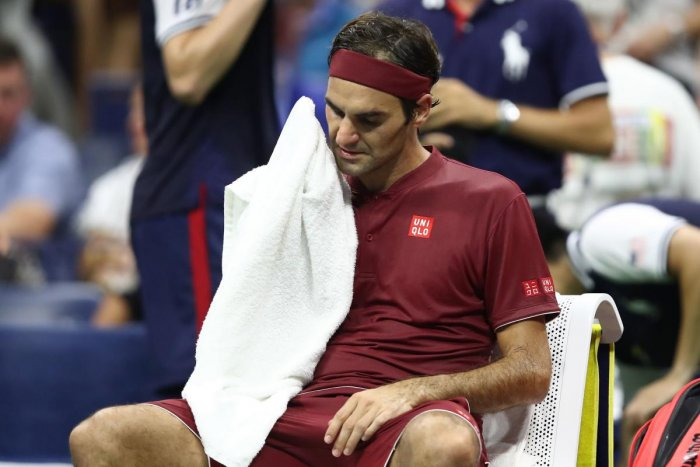 TOO HOT TO HANDLE: Switzerland ace Roger Federer said the humid conditions were tough to handle during his defeat to Australia's John Millman in the fourth round of the US Open.
