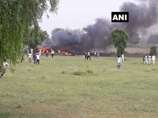 Deputy Commissioner, Jodhpur, Amandeep Singh said no loss of life has been reported in the crash.