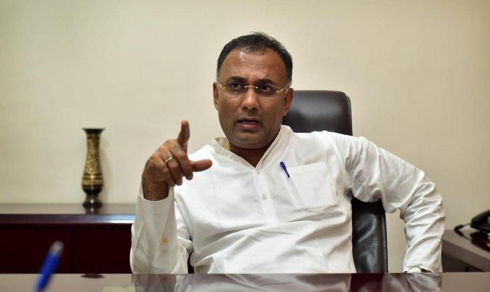 KPCC president Dinesh Gundu Rao. (DH file photo)