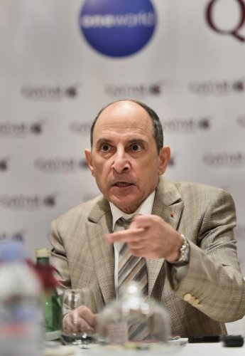 Qatar Airways CEO Akbar Al Baker interacts with the media in New Delhi on Tuesday. PTI