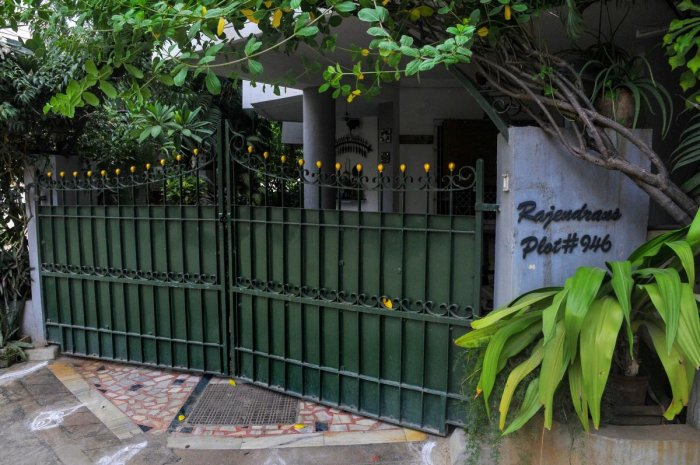 A view of Director General of Police T K Rajendran's residence, where CBI conducted a search in connection with the Gutkha scam, in Chennai. (PTI File Photo)
