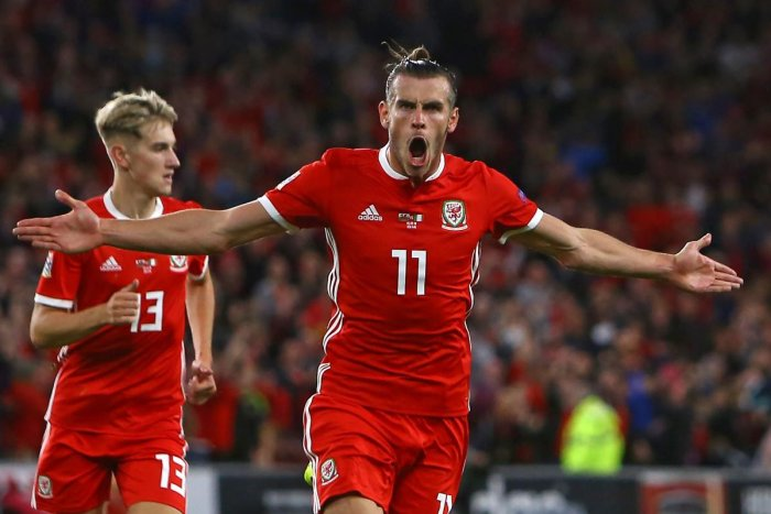 PROLIFIC Gareth Bale celebrates after scoring during a UEFA Nations League tie between Wales and Republic of Ireland. AFP