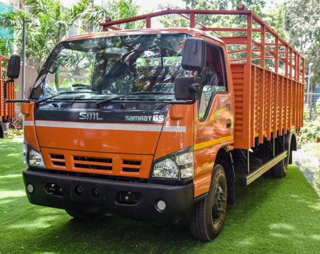 SML Isuzu on Friday introduced its global series of trucks in Bengaluru. DH Photo