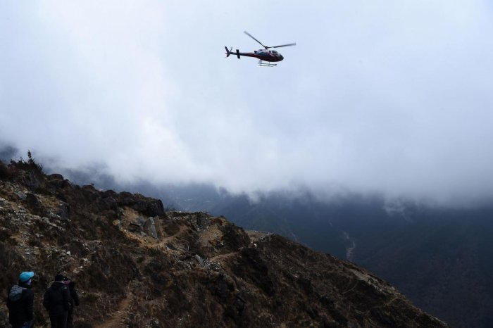 The Kathmandu-bound Altitude Air helicopter was carrying six passengers. AFP file photo for representation