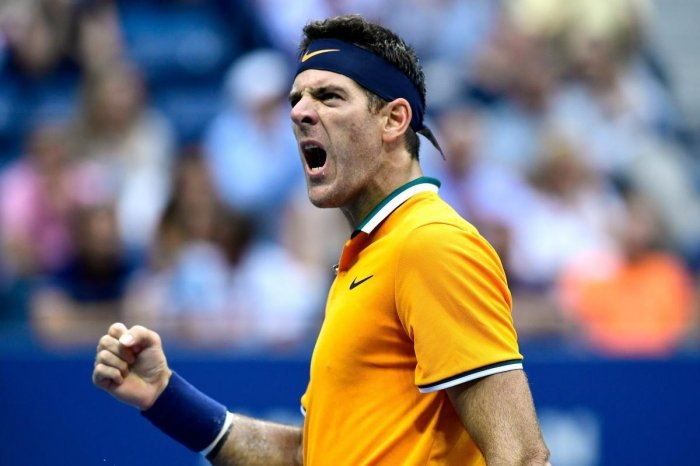Juan Martin del Potro of Argentina reacts during his men's singles semi-final match against Rafael Nadal of Spain on Day Twelve of the 2018 US Open at the USTA Billie Jean King National Tennis Center. AFP photo