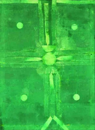 An untitled painting by V S Gaitonde