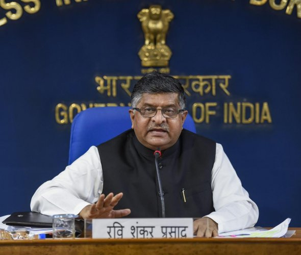 Union Law and Justice Minister Ravi Shankar Prasad. PTI photo.